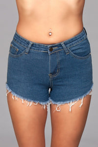Zip Me Up Denim Shorts