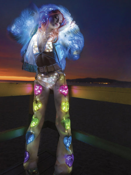 Light-Up Cosmic Sequin Top