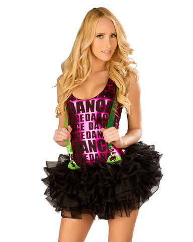 Suspender Black Tutu