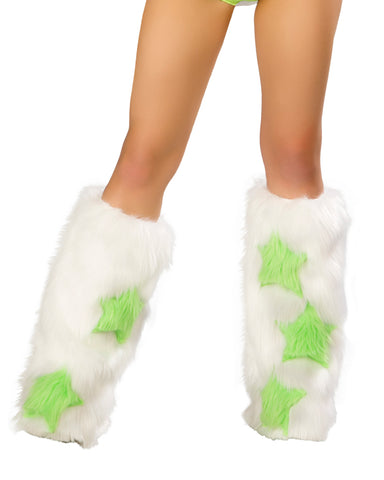 Star Legwarmers White Lime