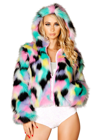 Hollywood Fur Hooded Jacket