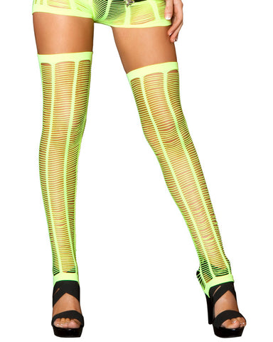 Shred Net Neon Yellow Leggings