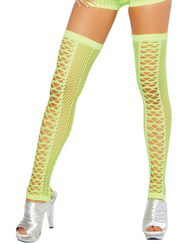 Net Neon Yellow leggings