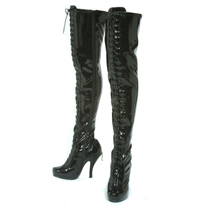 4.5 Concealed PlatformThigh High Boot