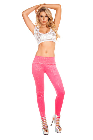 Bubblegum Pink Shimmer Leggings