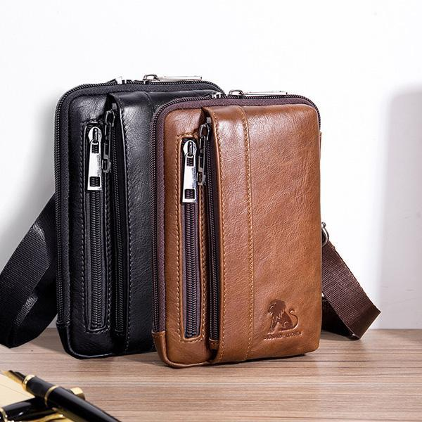 Men's Genuine Leather Phone Bag Waist Bag