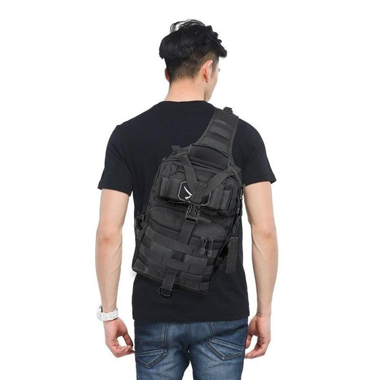 Outdoor Hiking Camping Rucksack Military Tactical Assault Pack Sling Backpack