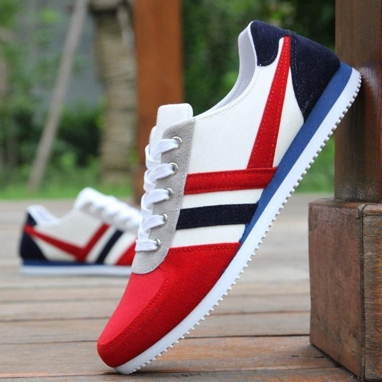Men's Fashion Canvas Shoes Sport Running Sneakers Casual Flat Shoes