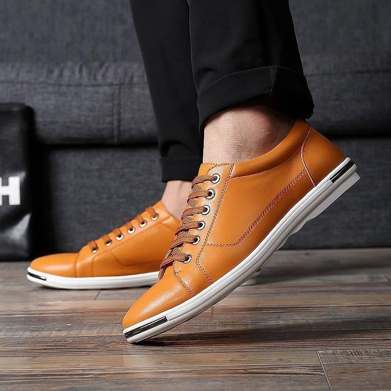 Mens Fashion Casual Flats Classical Shoes Low Top Driving Shoes