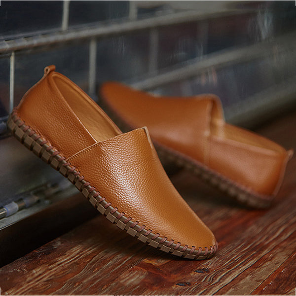 Men's Solid Color Slip-On Flats