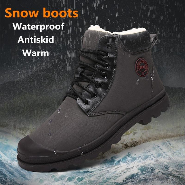 High-top Outdoor Cotton Shoes Plus Velvet Warm Snow Boots