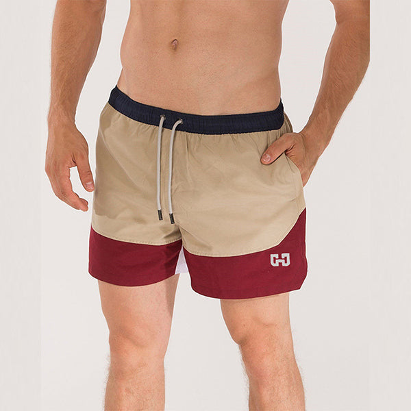 Summer Stitching Elastic Band Comfy Shorts