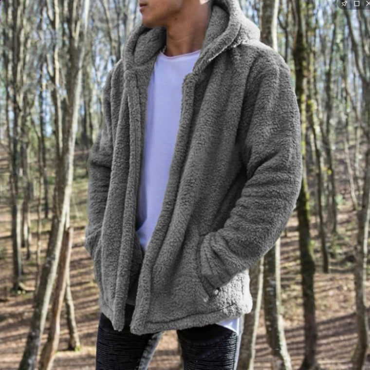 Men's Hooded Pockets Casual Winter Outerwear