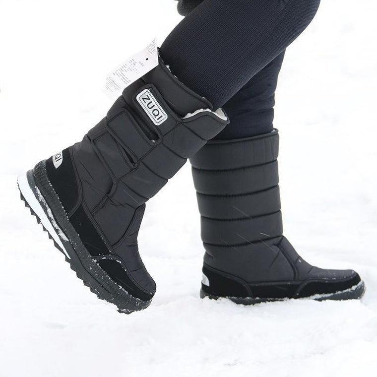 Men's Outdoor Winter Snow Skiing Boots with Fur