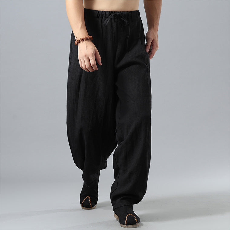 Men's Casual Bloomers Elastic Band Pants