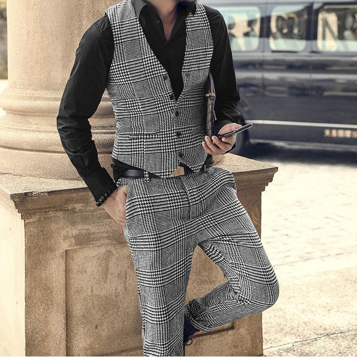 Men's Fahison Woolen Plaid Vest