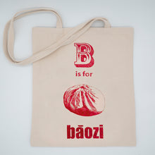 Load image into Gallery viewer, Tote Bag: B is for Bao (Red)