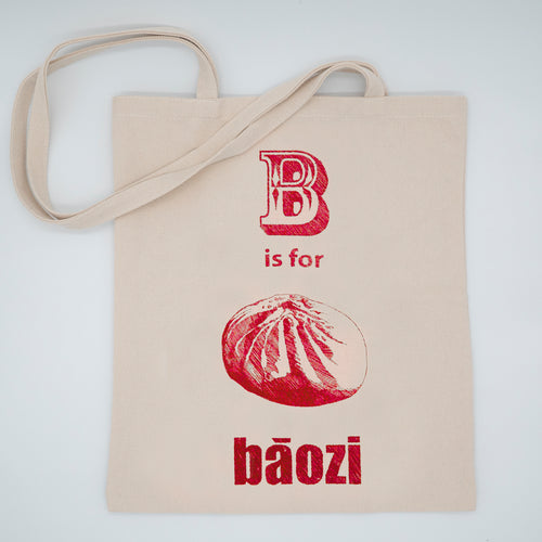 Tote Bag: B is for Bao (Red)