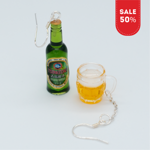 Tsingtao Beer Earring Set