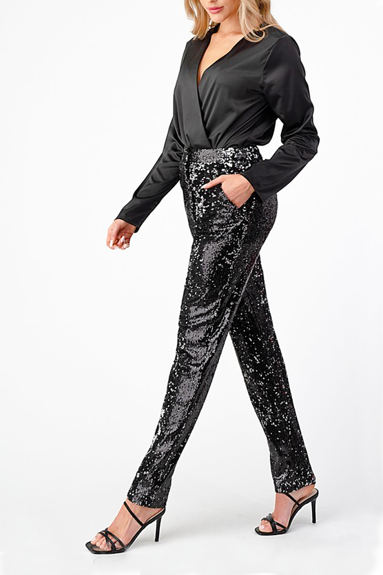 Cara Sequin Trousers