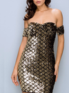 Fine Lights Dress - Black & Gold