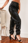 Lia Leather Joggers