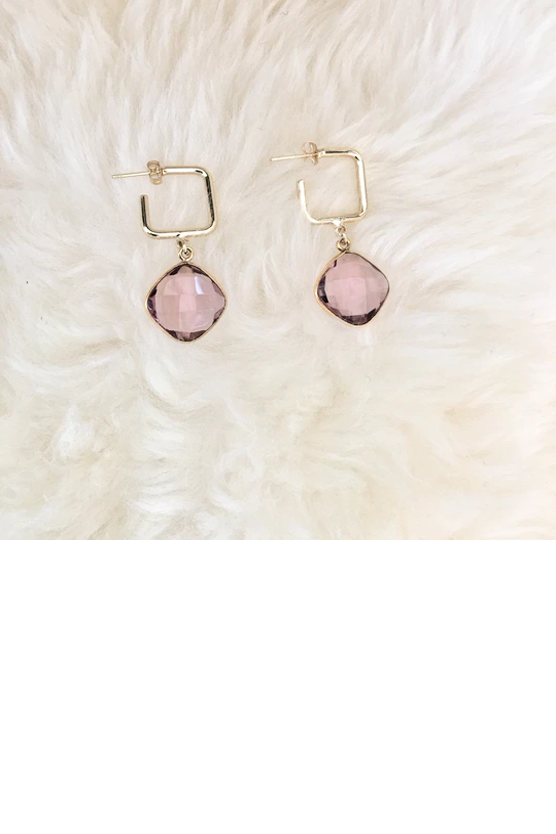 Morganite Hoops