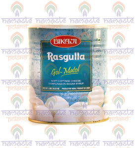 Bikaji Rasgulla (Soft Cottage Cheese Dumplings in Sugar Syrop) 1kg