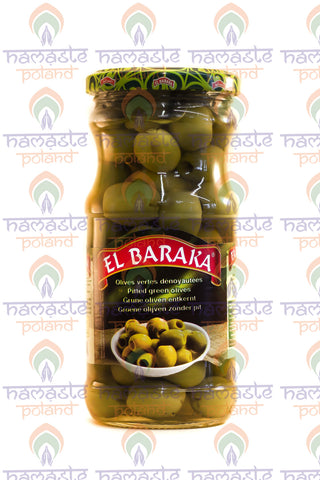 El Baraka Pitted Green Olives 340g