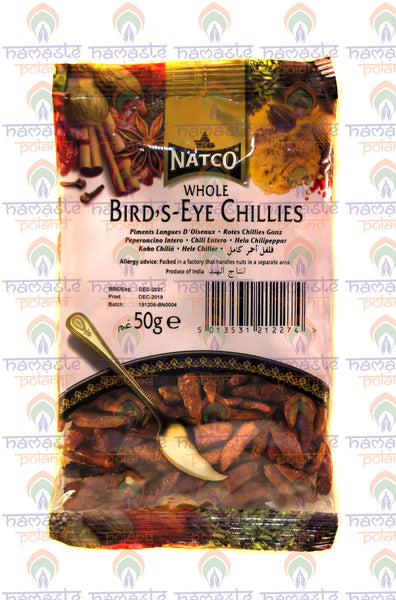 Natco Whole Bird's Eye Chilli 50g