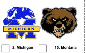 2019 March Madness Mascot Bracket for Kids