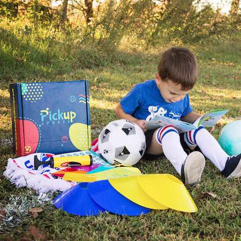 Soccer ball and kit for 3-6 year old kids