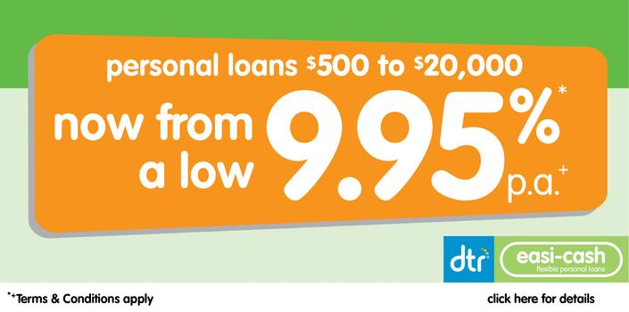 flexible personal loans from $500 - $20,000
