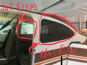 Semi-Permanent Plane Tint Film