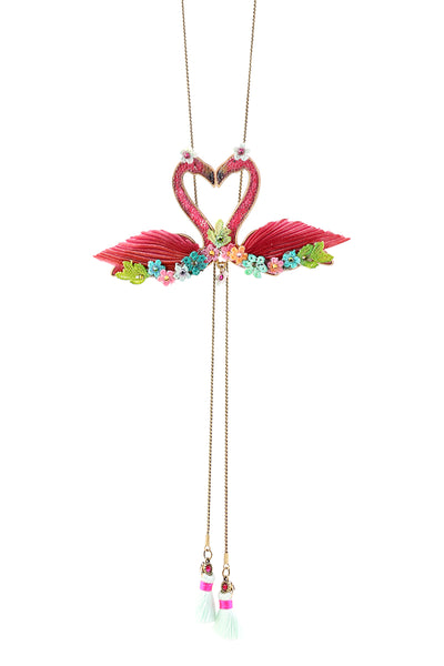 Double Flamingo Necklace