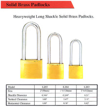 Load image into Gallery viewer, Long Shackle 50mm Padlock