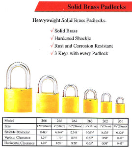Short Shackle 25mm Padlock