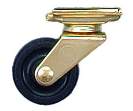 Wheel 1 1/2 Inch Swivel Removable Rubber Wheel
