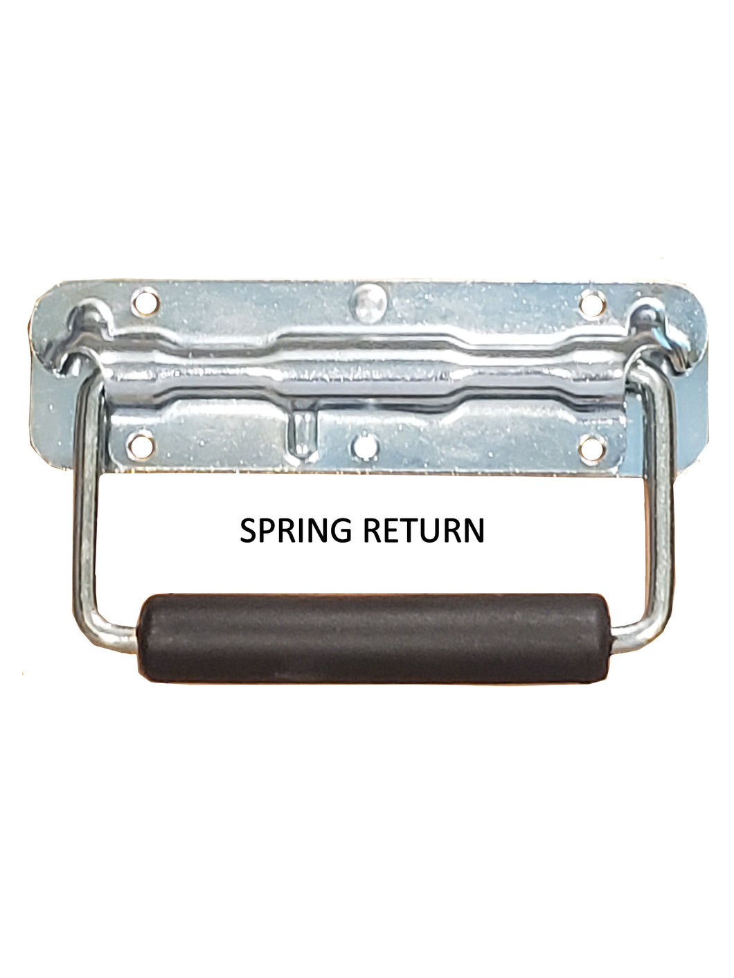 Spring Loaded Surface Mount Handle with Rubber Grip, Zinc