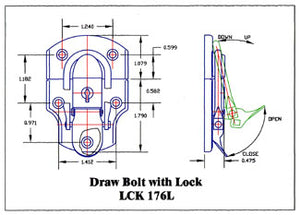 Locking Draw Bolt (For leather and other cases)