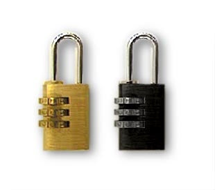 Combination Padlock - Solid Brass or Black