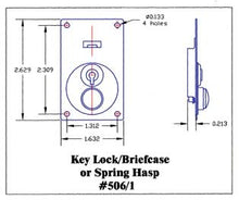 Load image into Gallery viewer, Briefcase Lock With Key LCK 506/1