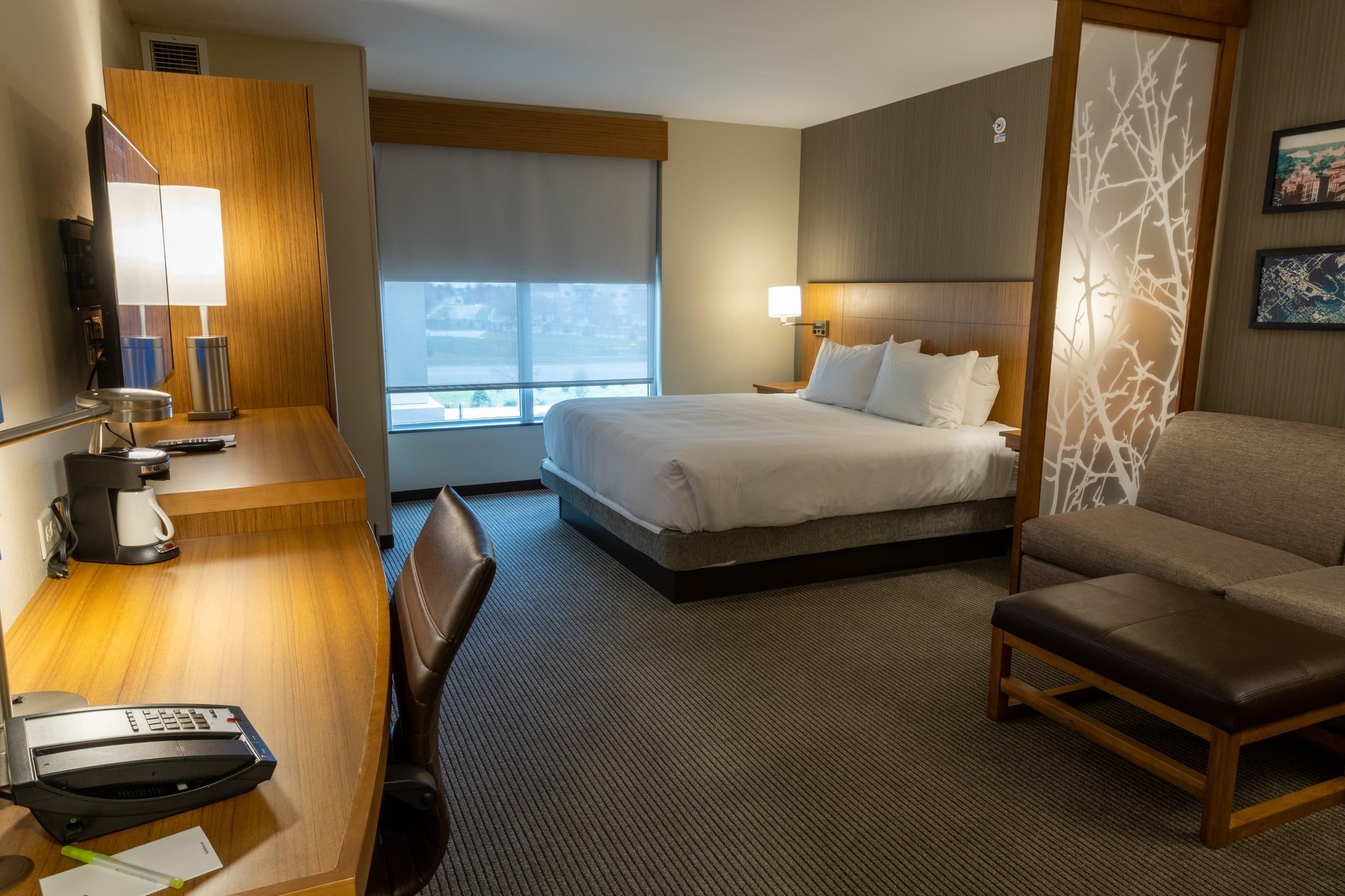 one of the bedrooms offered by the hyatt place