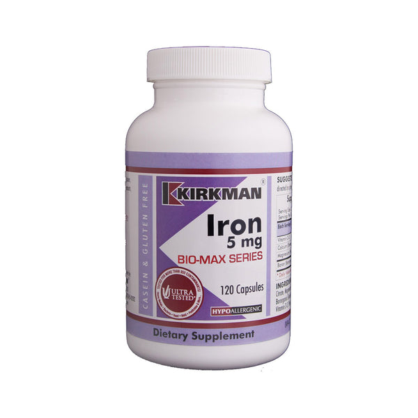 Iron 5mg Biomax Series 120 Capsules by Kirkman