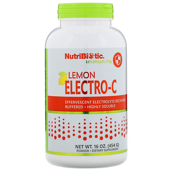 Electro-C Lemon Powder by Nutribiotic 16 oz (454 g)