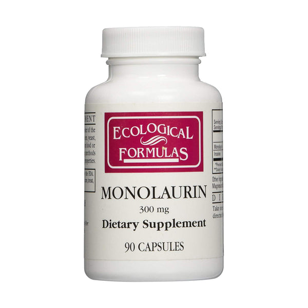 Monolaurin (Lauric Acid) 300mg 90 Capsules by Ecological Formulas