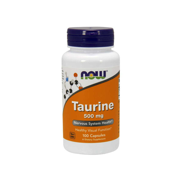Taurine 500mg 100 Capsules by NOW