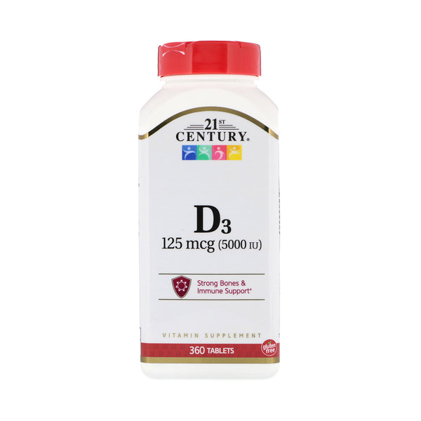 Vitamin D3 - 5,000ius 360 Tablets by 21st Century