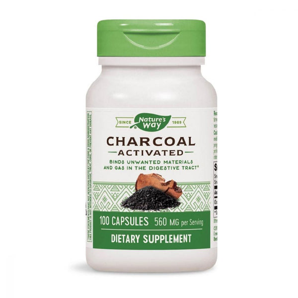 Activated Charcoal 280mg 100 Capsules by Natures Way