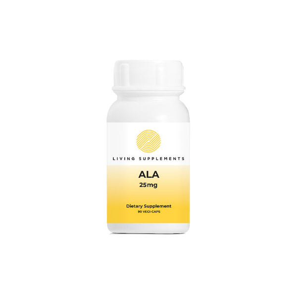 ALA 25mg 90 Capsules by Living Supplements